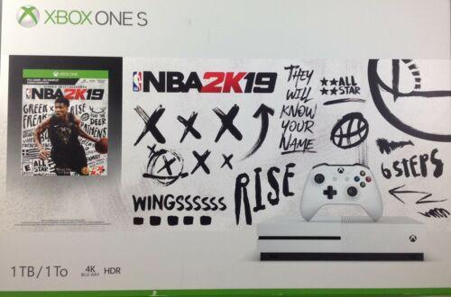 Microsoft Xbox One S 1TB NBA 2k19 Console Bundle White - Damaged Box (7276-SM00)