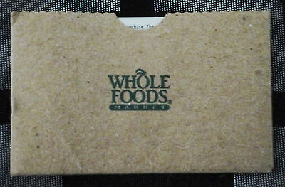 WHOLE FOODS GIFT CARD GO GREEN - Reduce, Reuse, Recycle - $42.35