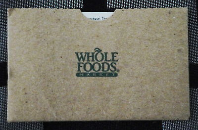 WHOLE FOODS GIFT CARD GO GREEN - Reduce, Reuse, Recycle - $41.00