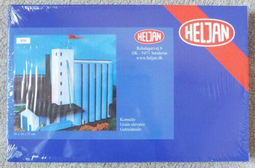 1/87 HO Scale Grain Elevator / Grain Silo Heljan #806 Shrink Wrapped MISB