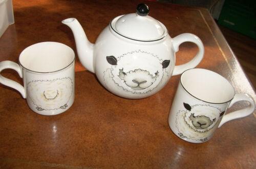 Arthur Wood Teapot & Cup set Rare Sheep Lamb Front & Backside! Made in England