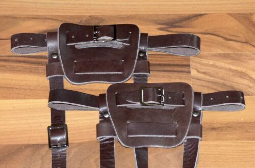 Brand new pair of brown colored leather bindings for snowshoes FREE SHIPPING!