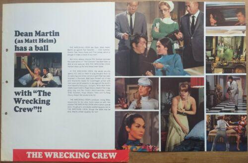 THE WRECKING CREW, Dean Martin, 1968, One Sheet Pressbook 722