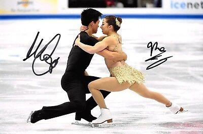 Marissa Castelli / Mervin Tran - USA - Eiskunstlauf - Foto signiert (1)
