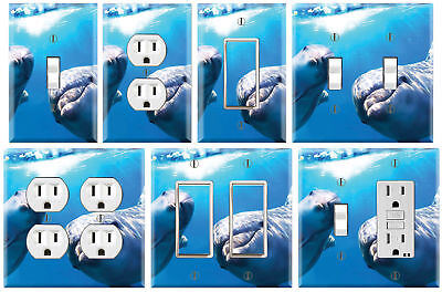 Cute Dolphin - Graphics Art Toggle/Rocker/GFCI/Outlet Wall Plate