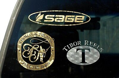 Sage fly rod and reel decals Sage Rods Reels