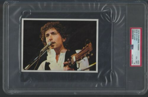 1975 BOB DYLAN CARD PSA 6 FIGURINE PANINI POP STARS # 67 LOW POP BEAUTY!