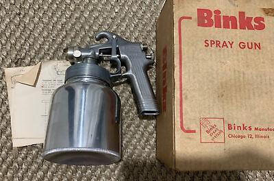 Binks Spray Gun Model 35. W Canister Box Manual New Old Stock Mint