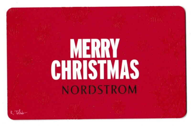 Nordstrom no value collectible gift card mint #32 Merry Christmas