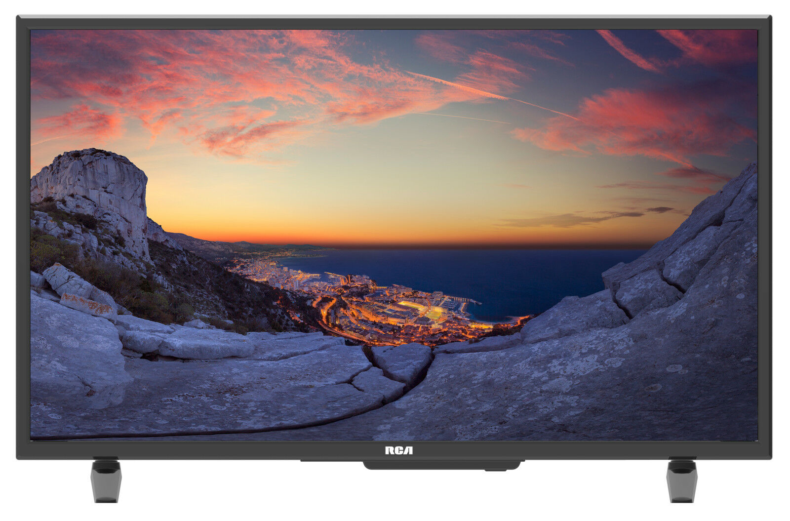 "RCA 32"" Class HD LED TV Slim Edge Frame Wall-Mountable HDTV 720P VGA, 3x HDMI"