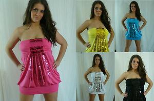 Sexy-Clubwear-Sequin-Mini-Dress-Tunic-Plus-Size-Dress-10-12-14-16-18-UK-seller