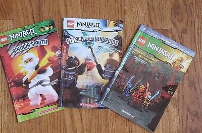 Lot of 3 Lego Ninjago Masters of Spinjitsu books 2 Scholastic & 1 Graphic Novel