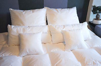 Kopfkissen Kissen Extra Pralle Füllung 2000Gramm 95%Gänsefedern 1 Stück 80x80cm