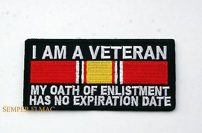 I Am A Veteran My Oath Of Enlistment Has No Expiration Hat Patch Us Coast Guard
