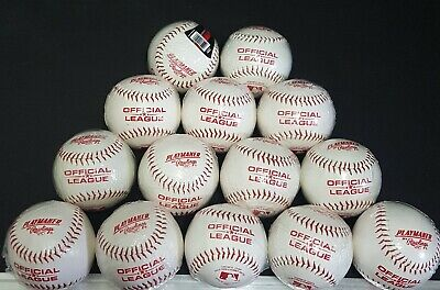 LOT OF 14 RAWLINGS PLAYMAKER OFFICIAL LEAGUE BASEBALLS RECREATIONAL LOT CC   NEW