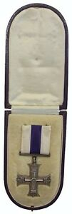 WW1 THE BRITISH MILITARY CROSS MEDAL IN CASE 100% ORIGINAL
