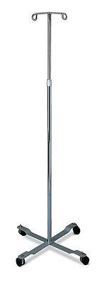 Medline - Wheeled Iv Pole Stand - 2 Hook - Rolling Cart