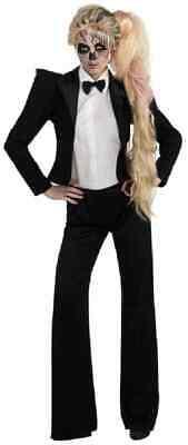 Lady Gaga Tuxedo Skeleton Smoking Adult Costume  XS (e) - Lady Gaga Tuxedo Costume
