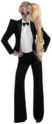 Lady Gaga Skeleton Tuxedo Pop Rock Star Fancy - Pop Rocks Halloween Kostüm