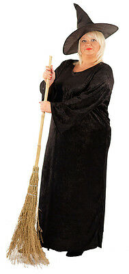 Halloween-Gothic-Scary-Fancy Dress Costume THE BLACK WITCH Ladies Sizes 10-42