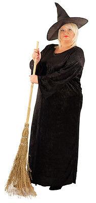 Halloween-Gothic-Scary-Fancy Kostüm The Black Hexe Damen Größen 10-42