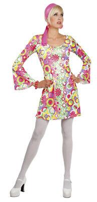 Go Go Girl Dance Kostüm Disco Outfit Kleid u. Haarband Gr. S/M Karneval