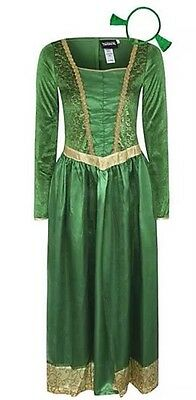 Adult Princess Fiona Shrek Fancy Dress Costume 8-24 HEADBAND WORLD BOOK DAY