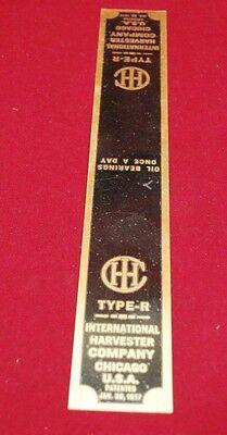 International Hopper Cooled Type R Magneto Brass Name Band Gas Engine Motor