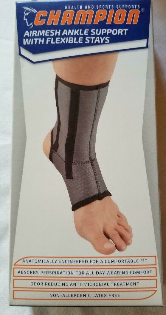 CHAMPION ANKLE BRACE, OPEN HEEL, FLEXIBLE SUPPORT STAYS