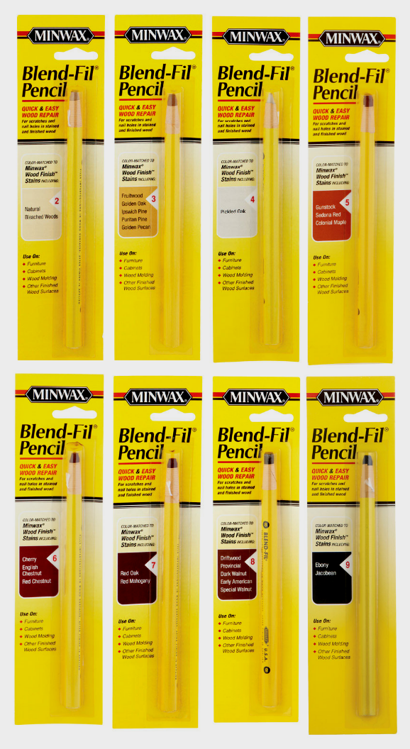 MINWAX Wood BLEND-FIL PENCIL Repair Scratches Nail Holes Touch-ups PICK COLORS!! Building & Hardware