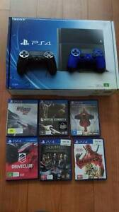 PS4  500GB + 6 Games with 2 Dual Shock controllers (Blocked with Carlton Kogarah Area Preview