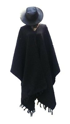 Sharpshooter Clint Eastwood Style Texmex Western Party Designer Black Poncho](Western Poncho)