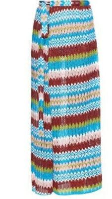 Missoni Mare Wrap Maxi Swim Cover Up Skirt. Lurex IT42
