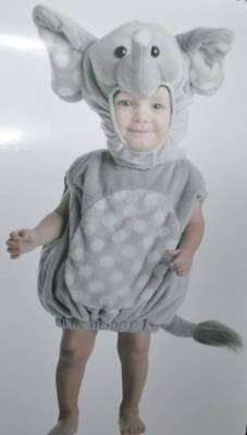 Nwt-Toddler Jungen Mädchen Grau Plüsch 2 Teile Elefant Halloween Costume-Sz