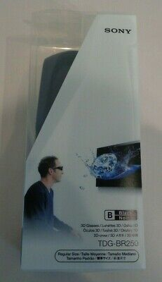 Sony TDG-BR250 Active New 3D Glasses Regular Size Black