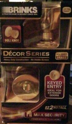 Brinks 4701-105 Bell Style Keyed Entry Knob, Polished Brass Brass Keyed Entry Bell