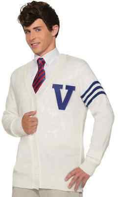 Varsity Sweater 50's School Letterman Retro Halloween Adult Costume Accessory