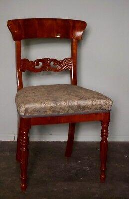 Biedermeier Stuhl 19.Jh.Mahagoni, handpoliert, norddeutsch