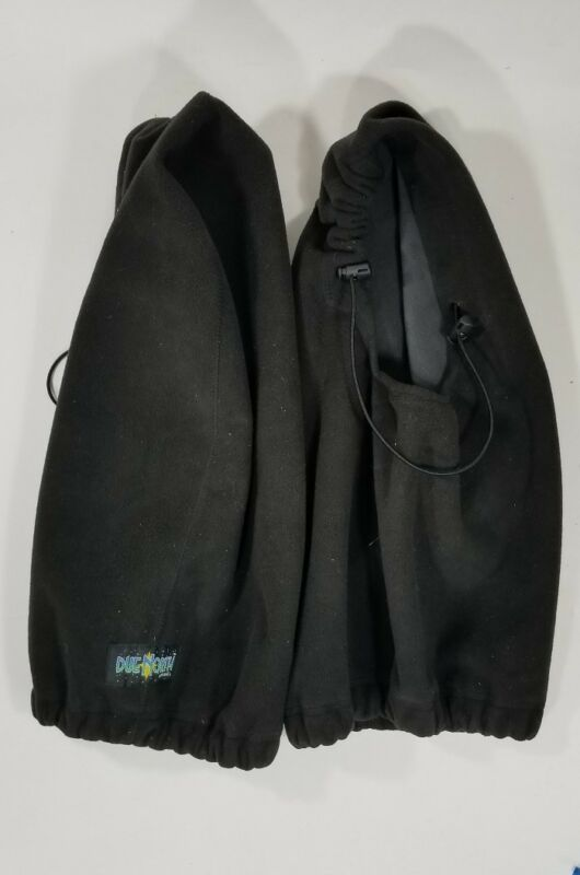 2 Due North Apparel Winter Fleece Black Hooded Style Face Mask Neck Warmer
