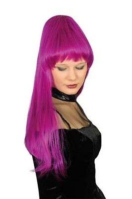 Damen Perücke SADIA mangenta lila Kostüm Hexe Zauberin Außerirdische Vamp Gothic