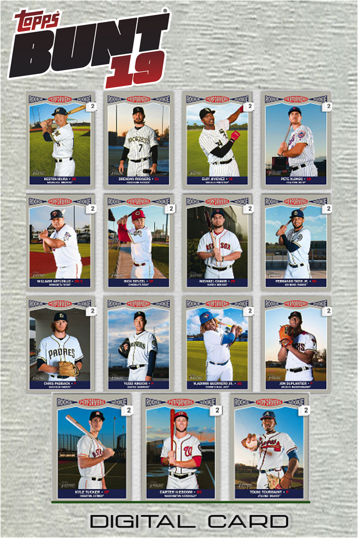 2019 ROOKIE PERFORMERS COMPLETE SET OF 15 CARDS Topps Bunt D