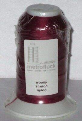 METTLER Burgundy Red ~ Serger Overlock Thread Woolly Nylon Sewing Crafts  (Mettler Overlock Thread)