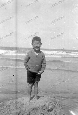 Vintage Photo negativ-1930-Young-cute-Boy-teen-swimsuit-play-knabe-junge-10 ()