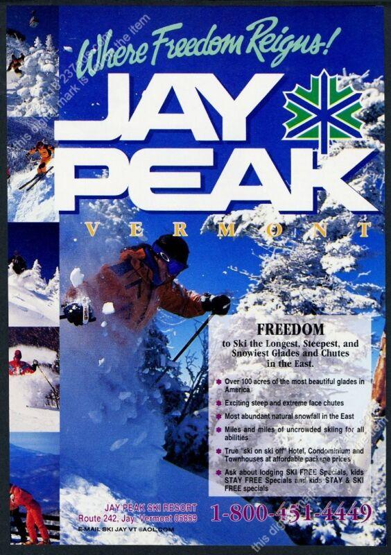 1995 Jay Peak ski area Vermont skier skiing 6 photo vintage print ad