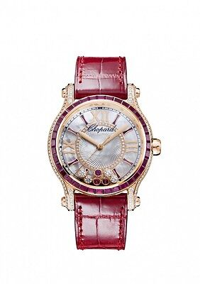 Chopard Happy Sport Mother of Pearl with Diamonds and Rubies Dial Ladies Watch