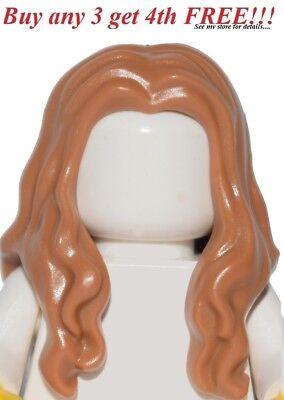 Girls Pirate Hair (☀️NEW Lego Minifig Hair Female Girl Medium Dark Flesh Long Over Shoulders)