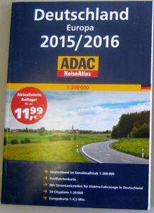 ADAC Reiseatlas 2015/2016 Deutschland Europa, Atlas, Straßenkarte