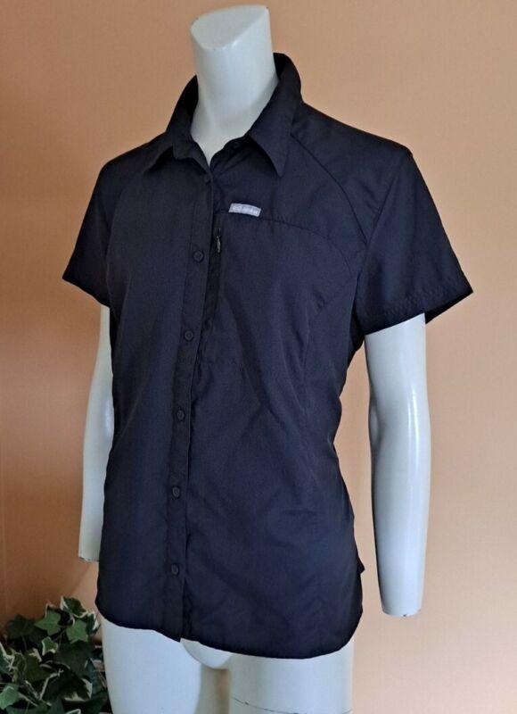 Columbia Omni-Shade Hiking Fishing Short Sleeve Button Down Shirt Women