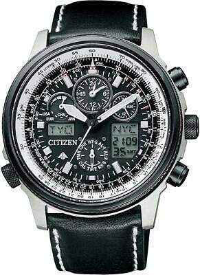Citizen Watch Promaster Eco-Drive Radio Clock Chronograph PMV65-2272 From Japan Black Chronograph Clock
