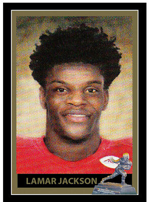 LAMAR JACKSON HEISMAN TROPHY SERIES CARD - CUSTOM MADE - LOUISVILLE 2016